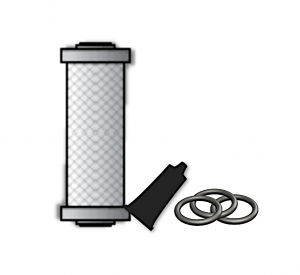 Element, tube of lubricant and three orings